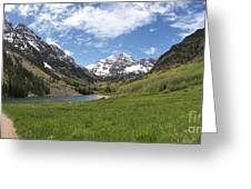 Maroon Bells Trail Panorama Greeting Card