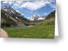 Maroon Bells Wilderness Panorama Greeting Card