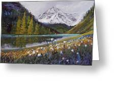 Maroon Lake Greeting Card