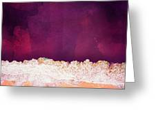 Maroon Ocean Greeting Card