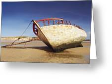 Marooned Boat Greeting Card