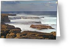 Maroubra Seascape 01 Greeting Card by Barry Culling