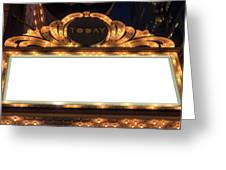 Marquee Lights Blank Sign Greeting Card