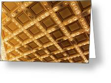 Marquee Lights On Theater Ceiling Greeting Card