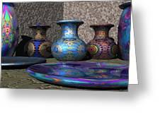Marrakesh Open Air Market Greeting Card