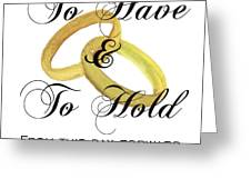 Marriage Vows Greeting Card