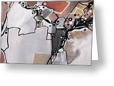 Marron Mapa Greeting Card