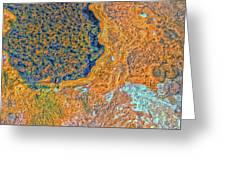 Mars Abstract Greeting Card