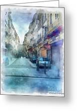 Marseille Back Street Greeting Card