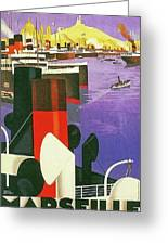 Marseille, City Harbor, France Greeting Card