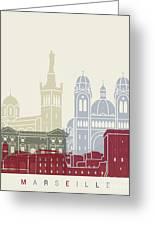 Marseille Skyline Poster Greeting Card