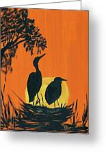 Marsh Nest Greeting Card