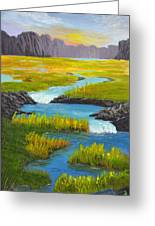 Marsh River Original Painting Greeting Card