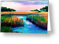 Marsh Splendor Greeting Card by Shirley Lawing