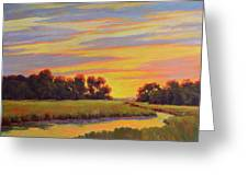 Marsh Sunrise Greeting Card