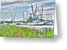 Marsh View Shrimp Boats Greeting Card