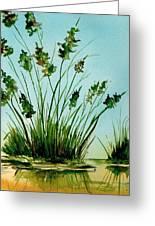 Marsh Weeds Greeting Card