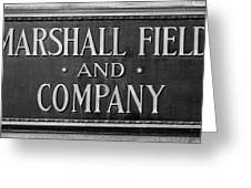 Marshall Field Plaque Greeting Card