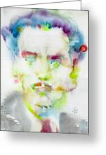 Marshall Mcluhan - Watercolor Portrait Greeting Card