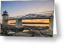 Marshall Point Light Sunset Greeting Card