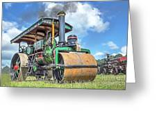Marshall Steam Roller Greeting Card