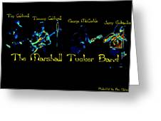 Marshall Tucker Winterland 1975 #19 Enhanced In Cosmicolors With Text Greeting Card