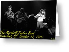 Marshall Tucker Winterland 1975 #37 Crop 2 With Text Greeting Card