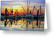 Marshallberg Harbor Sunset Greeting Card