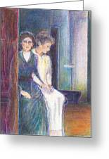 Martha And Mary Greeting Card by Laurie Parker
