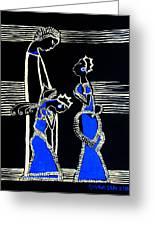 Martha And Mary Of Bethany Greeting Card by Gloria Ssali