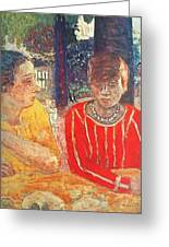marthe in red blouse c1928 Pierre Bonnard Greeting Card