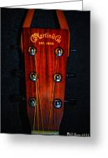 Martin And Co. Headstock Greeting Card