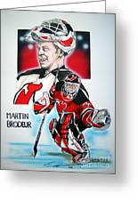 Martin Brodeur Greeting Card