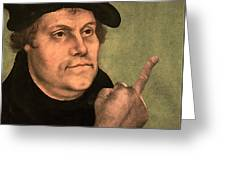 Martin Luther  Finger Greeting Card