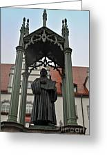 Martin Luther In Market Square Greeting Card