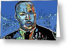 Martin Luther King Color Greeting Card