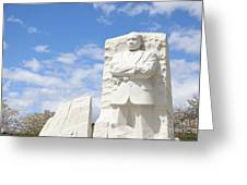 Martin Luther King Dc Memorial Greeting Card