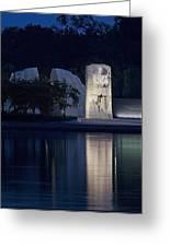 Martin Luther King Jr Memorial Overlooking The Tidal Basin - Washington Dc Greeting Card