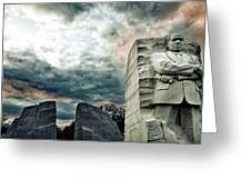 Martin Luther King Memorial At Sunset Greeting Card