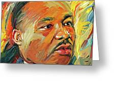 Martin Luther King Portrait 1 Greeting Card