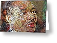 Martin Luther King Portrait Mosaic 1 Greeting Card