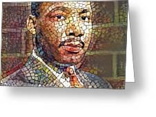 Martin Luther King Portrait Mosaic 2 Greeting Card