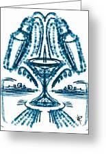 Martini Fountain Greeting Card