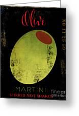 Martini Olive Greeting Card