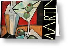 Martini Poster Greeting Card