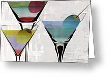Martini Prism Greeting Card