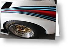 Martini Racing Lines Greeting Card