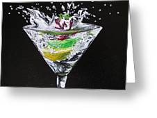 Martini Splash Greeting Card