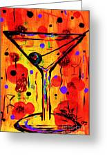 Martini Twentyfive Of Sidzart Pop Art Collection Greeting Card