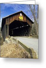 Martinsville Covered Bridge- Hartland Vermont Usa Greeting Card
